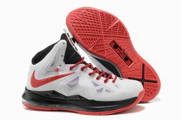 New White Black Red Nike Lebron X Basketball Shoes Shop