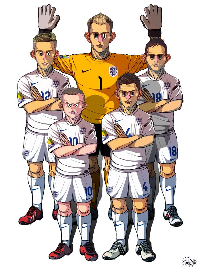[2014 World cup Edition] D team : England by sakiroo.deviantart.com on @deviantART