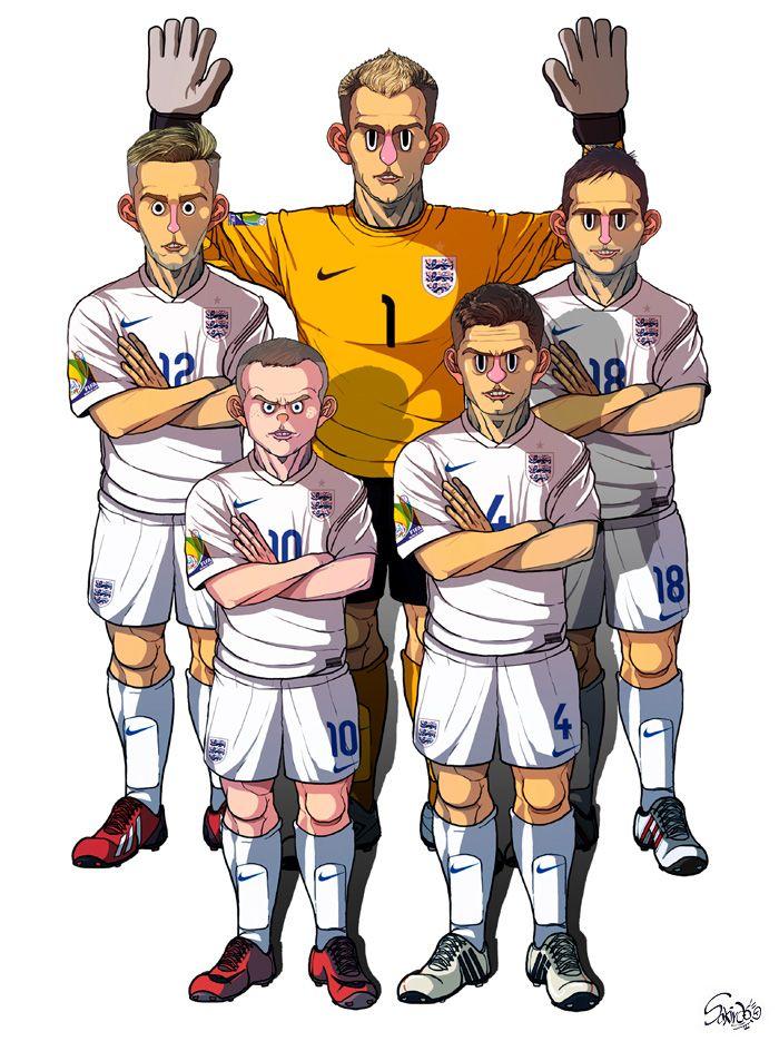 [2014 World cup Edition] D team : England by sakiroo.deviantart.com on @deviantART