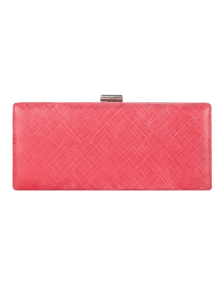 Phase Eight Elle Leather Clutch Bag Purple