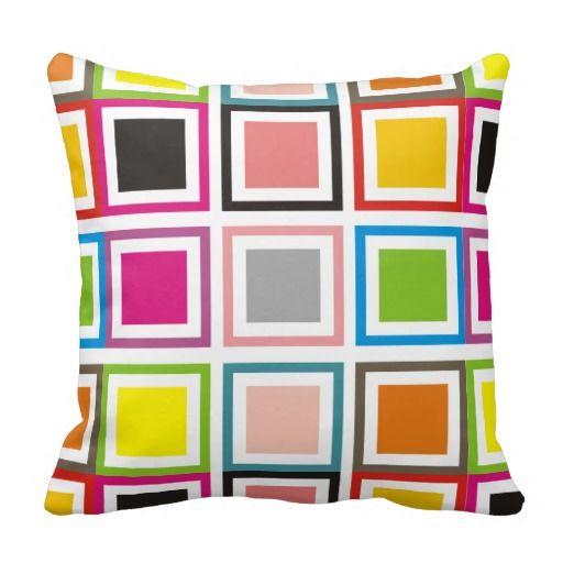 Cubes colors throw pillow