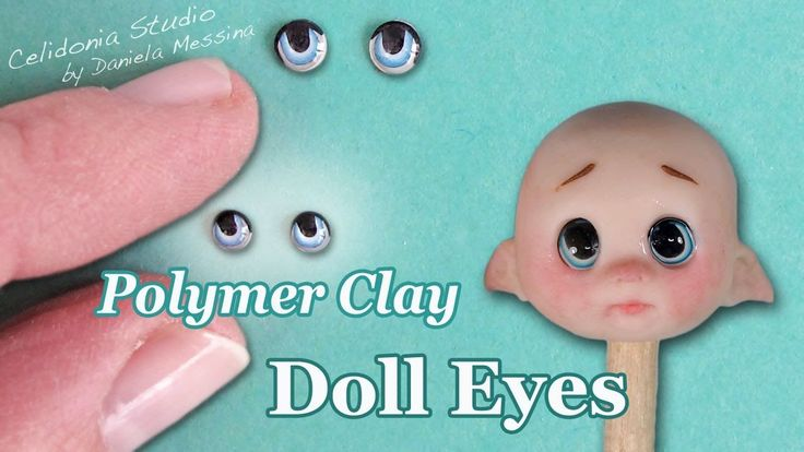 Polymer Clay Doll Eyes Tutorial - Manga Style
