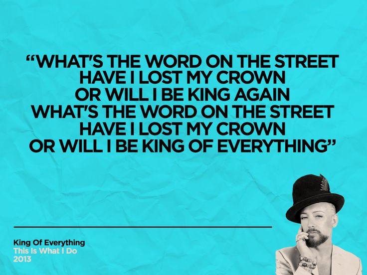King Of Everything lyrics