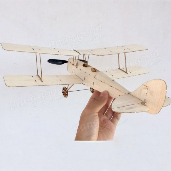 Mínima Tiger Tiger Moth Biplane 400mm Envergadura Balsa Madera Corte por láser RC Avión KIT Venta - Banggood.com