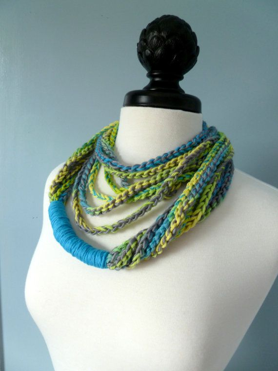 Crocheted Necklace Scarf Crafty Pinterest Crochet Necklace Scarves And Crochet