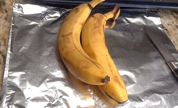 Это так вкусно! Запекаем банан.