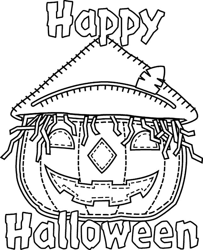 halloween coloring pages - Halloween Pictures Coloring Pages