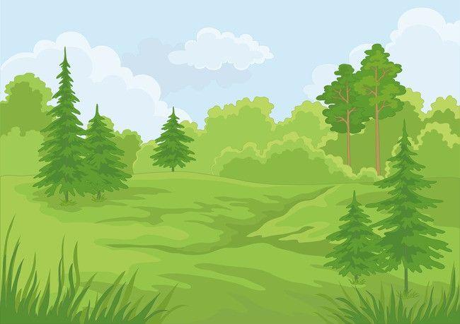 Vector Cartoon Painted Prairie Field Background Material En 2020