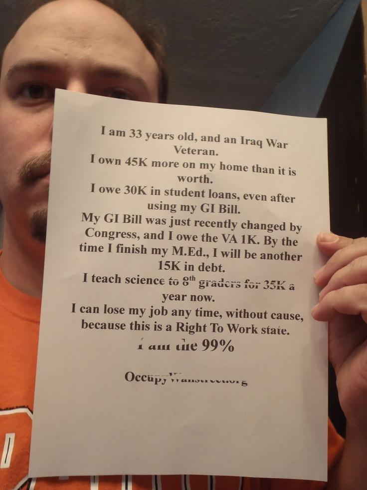 I am the 99 gi bill student loans iraq war