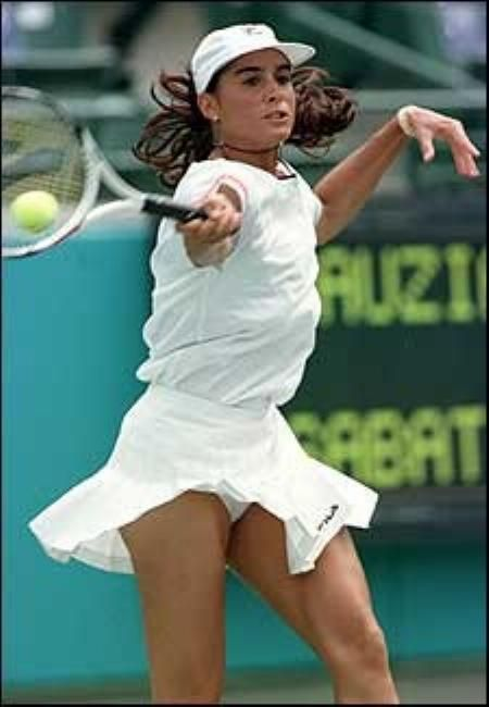 Gabriela Sabatini...it was great watching her play back in her day.