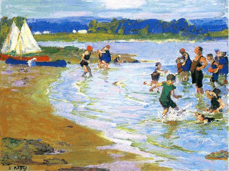 White Sails by Edward Potthast
