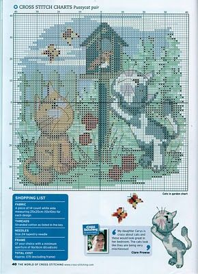 Graph of Kittens Cross Stitch | Cross Stitch Cross-Stitch Cross-Punto-十字绣-Punto Croce Kreuzstitch-Point-of-Croix вышивк
