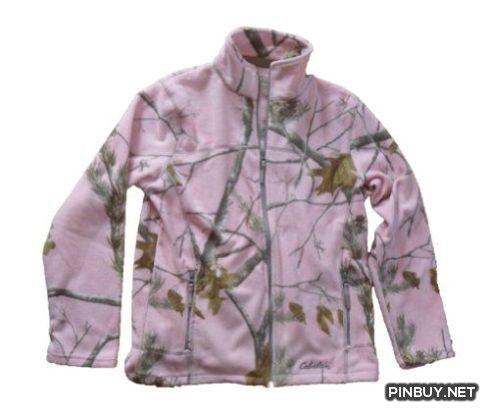 Realtree Pink Camo Jacket Womens Unlined Fleece Camouflage Jacket - PinBuy