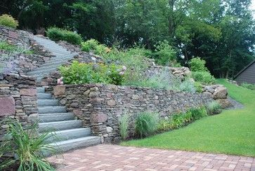 beautiful idea for a yard with a steep hill