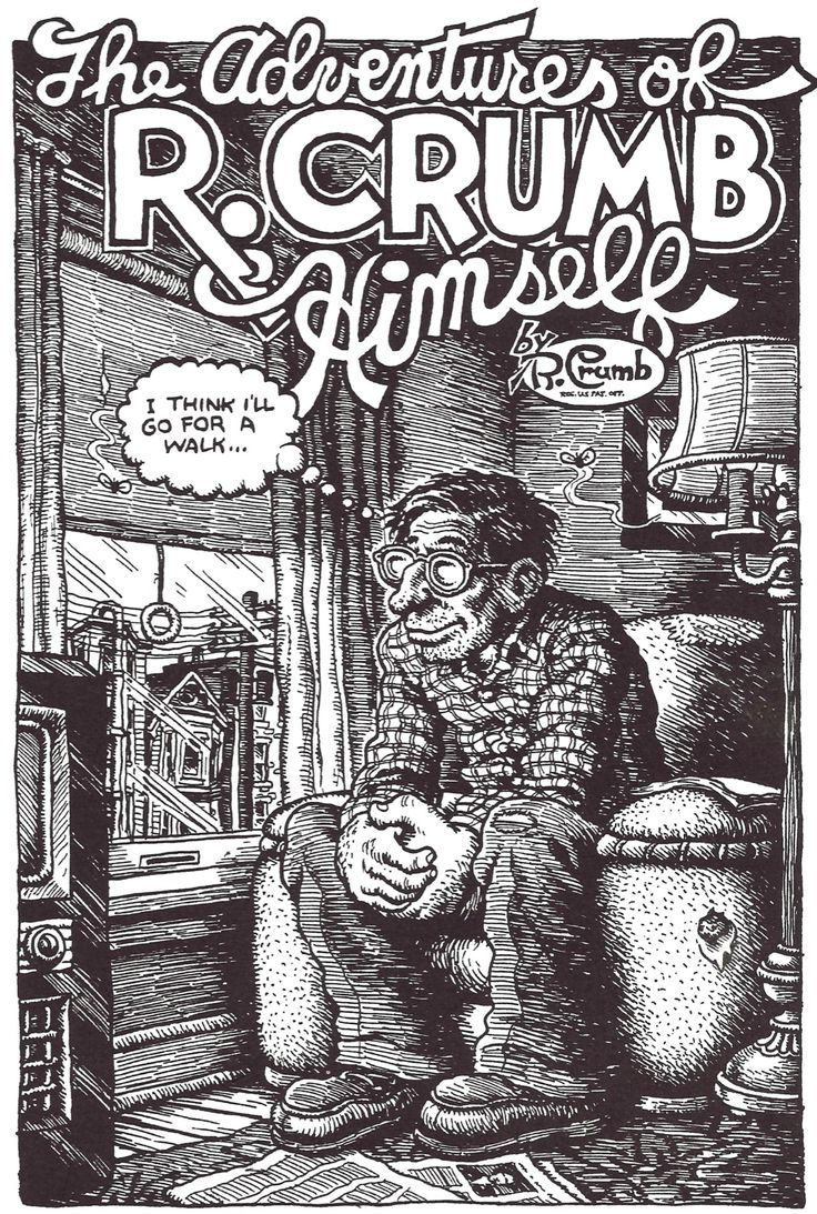 "Robert Crumb, From ""The Adentures of Robert Crumb Himself"", 1973.  Tales from the Leather Nun."