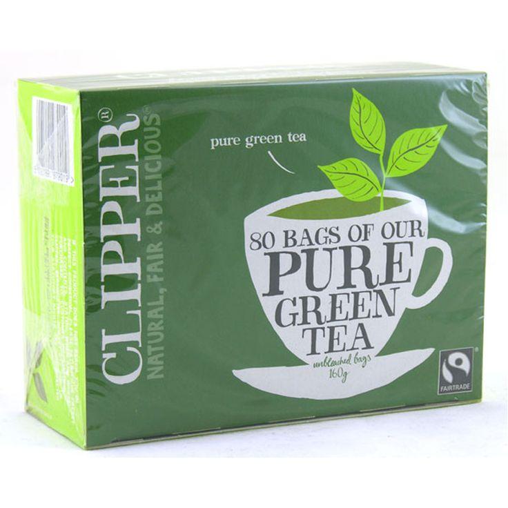 Fairtrade Pure Green Tea (80 bags) from Clipper Tea   Tesco £2.something
