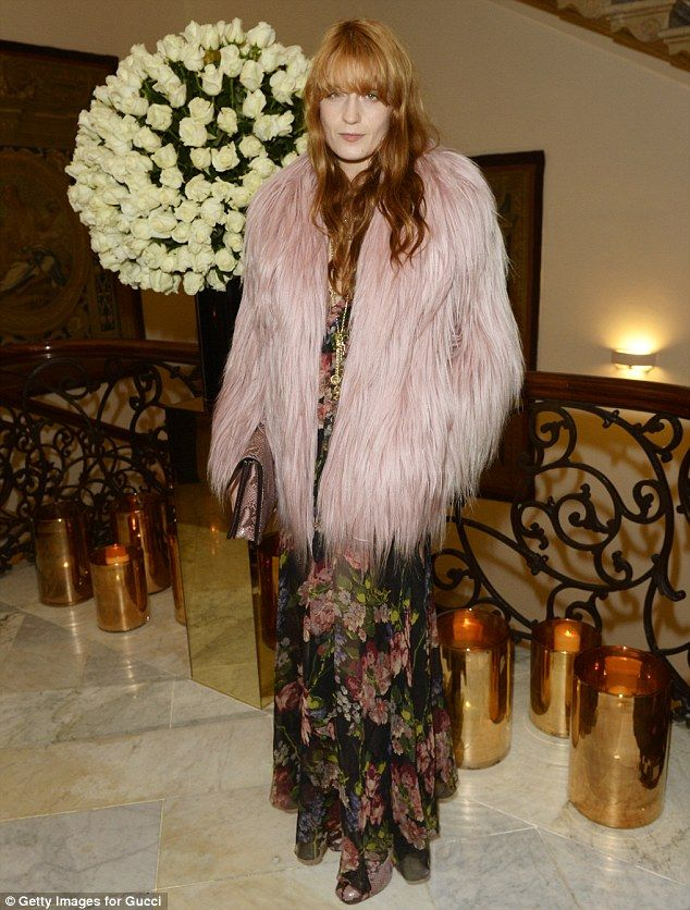Florence Welchattended the private reception hosted by Gucci & Frieze Masters in honour of the speakers at Frieze Masters Talks 2014 in London