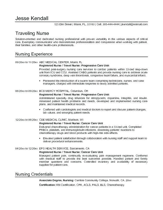 Image Result For Registered Nurse Resume Summary Examples