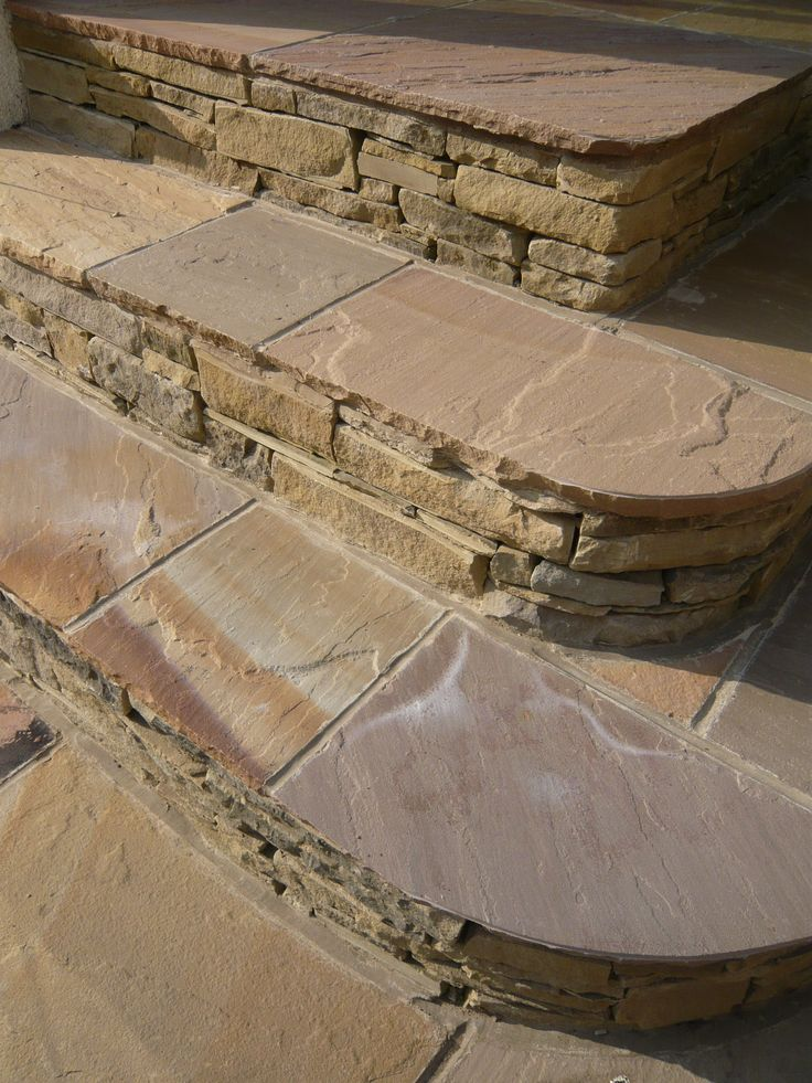 Best 7 Best Curved Stone Steps Images On Pinterest Backyard 400 x 300