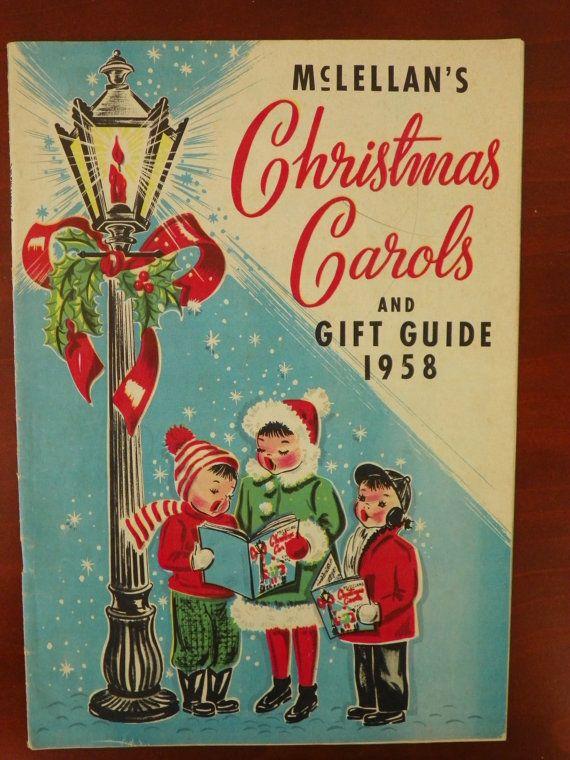 Vintage Christmas Ephemera ~ McLellan's Christmas Carols and Gift Guide ©1958