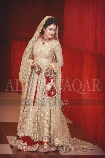 Best 25 Pakistani Gowns Ideas On Pinterest Pakistani Wedding Within Best 30 White And Gold Indian Wedding Dresses