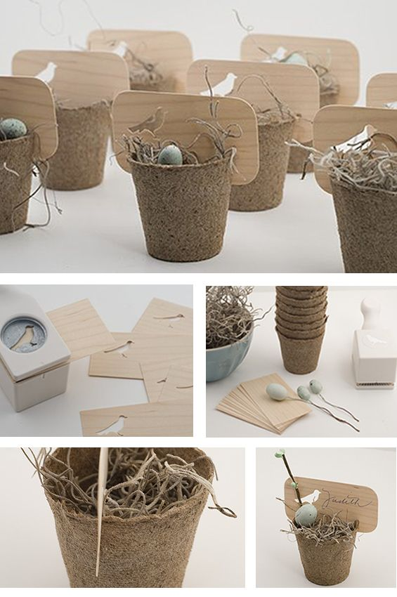 Bird nest place cards. I love the real creativity of these! It must have taken a lot of work to make these!!