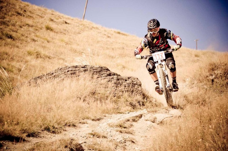 Guillaume Cauvin - RockN Roll Enduro - Queenstown Bike Festival. Photo: queenstownbikefestival.com