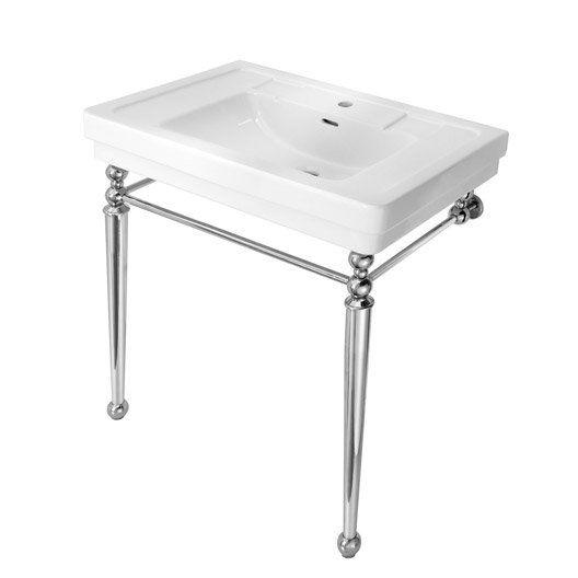 plan vasque jazz en cramique blanc 80 cm - 100 Cm Plan Vasque