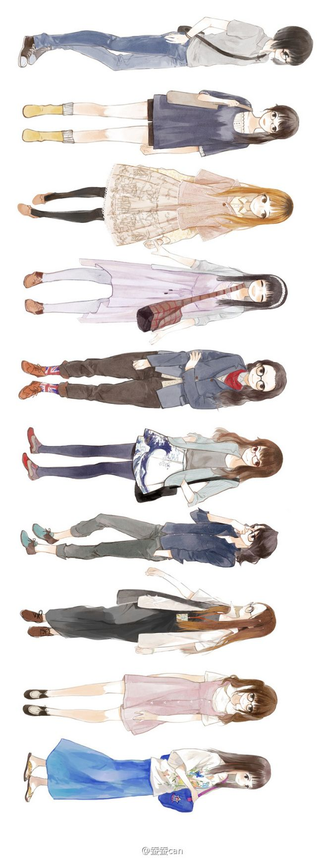 anime girl styles  .