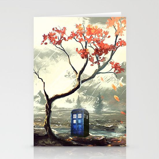 Tardis With A Tree - $12