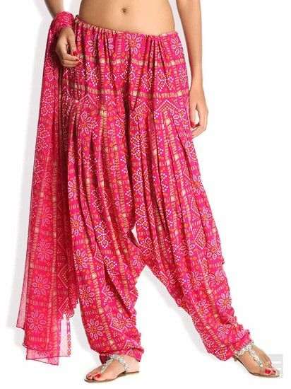 Traditional Blush Bandhani Patiala & Dupatta Online   Buy Soch Dupatta India. Online Shopping India - Shop Online for Women'