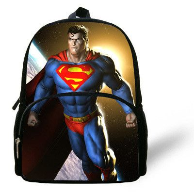 12-inch Mochilas Escolares Kids School Backpack Superman Baby Boy Bag Age 1-6 Casual Children School Bags Superman Print