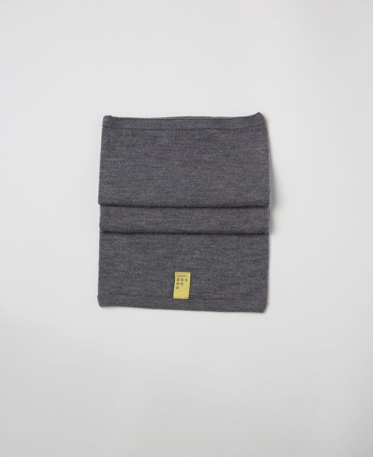 Findra merino grey wool snood from The Cycling Store