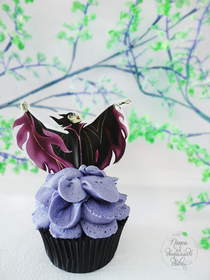 Maleficient Cupcake Toppers