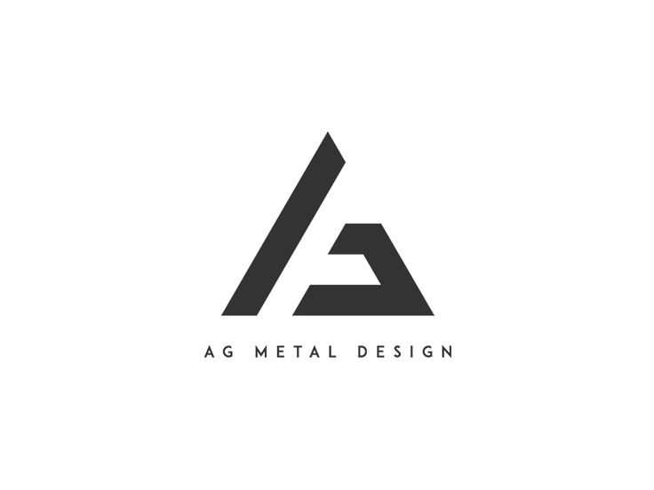 "Chosen logo for a ironwork company called ""AG Metal Design"".   Simple but effective"