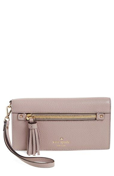 kate spade new york 'spencer court - rae' leather wristlet wallet (Nordstrom Exclusive)