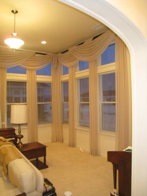 Elegant Kitchen Curtains Valances Custom Large Window With Transoms Treatments - | Love Decorate ...