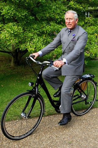 Boris is not the posh bloke who likes a bike. Prince Charles on his bike!