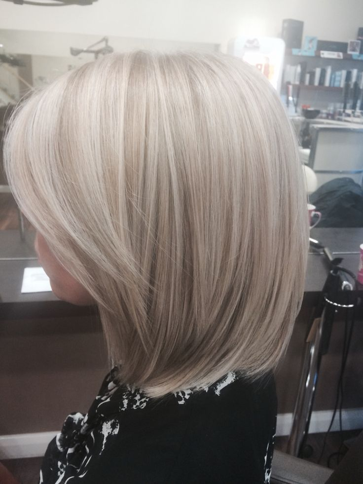 Blonde highlights with Wella instamatic smokey amethyst