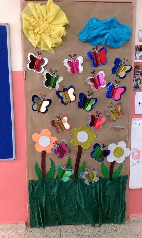 Butterfly classroom door, kelebekler sinifi