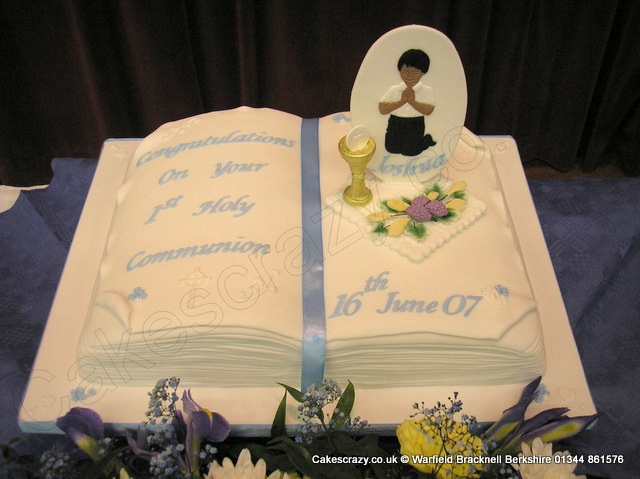 Book Shaped Christening Cake Ideas And Designs