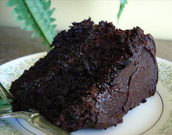 This was the best chocolate cake I've ever made, and I'm picky when searching for recipes. Very good! Cut down slightly one the sugar and water (yes, I said water... crazy recipe) to really let the chocolate shine, and be sure to use the special dark dutch cocoa powder. Very moist and chocolatey.