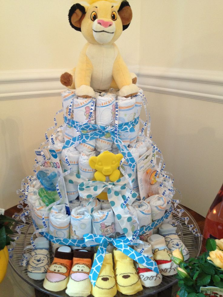 Diaper Cakes Diapers And Lion On Pinterest