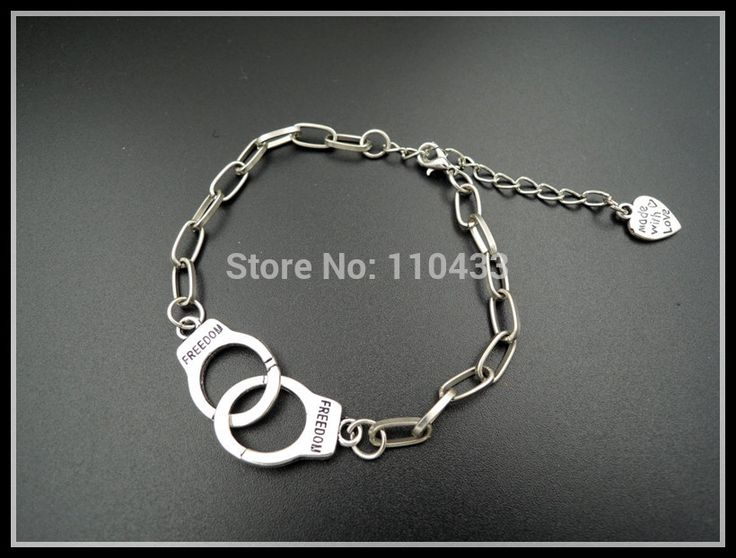 INSPIRED 50 FIFTY SHADES OF GREY inspired chain bracelet love partner in crime freedom BF182 #Affiliate