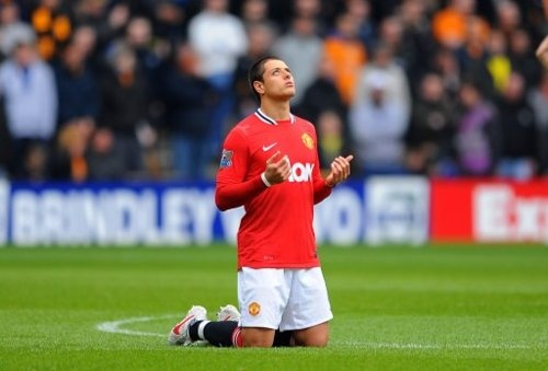 Chicharito Mexican Soccer player Manchester's MVP and top scorer