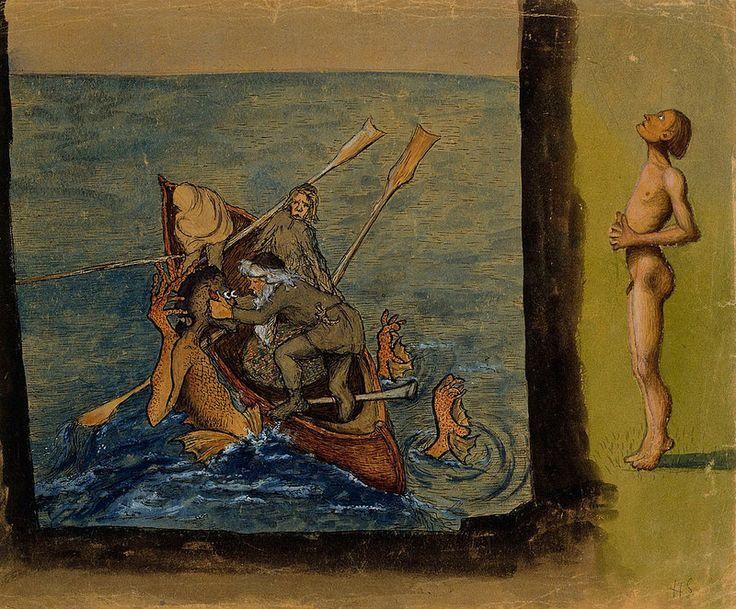 Hugo Simberg - Väinämöinen and Ikiturso, 1897