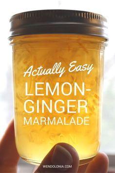 Actually Easy Lemon Ginger Marmalade