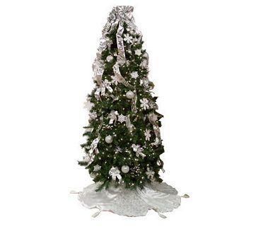 simplicitree 7 12 prelit pre decorated christmas tree wremotecontrol - Remote Control Christmas Tree