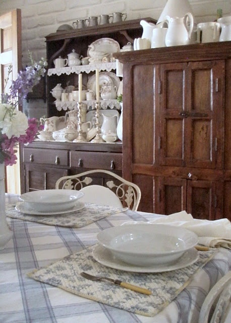 . . . Cabin & Cottage: A French Blue Father's Day Table