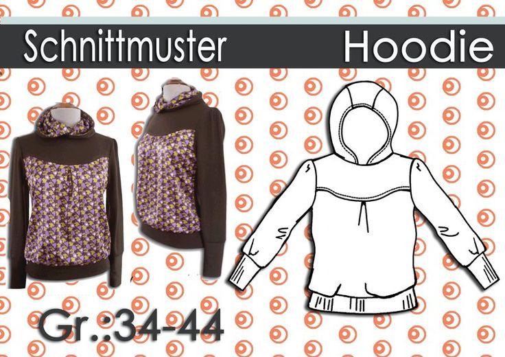 Schnittmuster & Anleitung Hoodie Shirt Gr:34-44